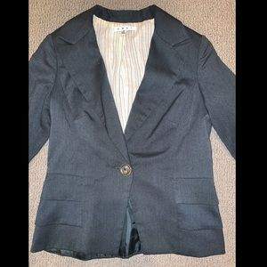 CAbi Suit Jacket Size 2 Gray Blazer Fits 4 0